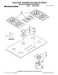 Diagram for 01 - Cooktop, Burner And Grate Parts
