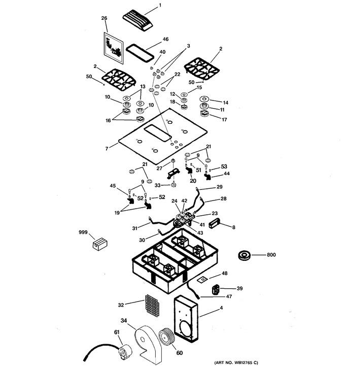 Diagram for JGP989TC3WW