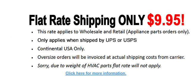 Flat Rate Shipping Only $9.95