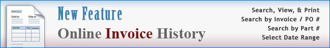 Online Invoice History